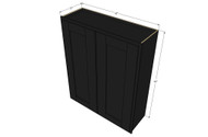 Large Double Door Island Java Shaker Wall Cabinet - 42 Inch Wide x 42 Inch High