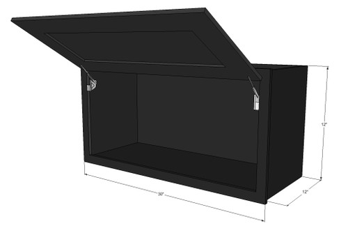 ... Wall Cabinet   30 Inch Wide X 12 Inch High. Image 1