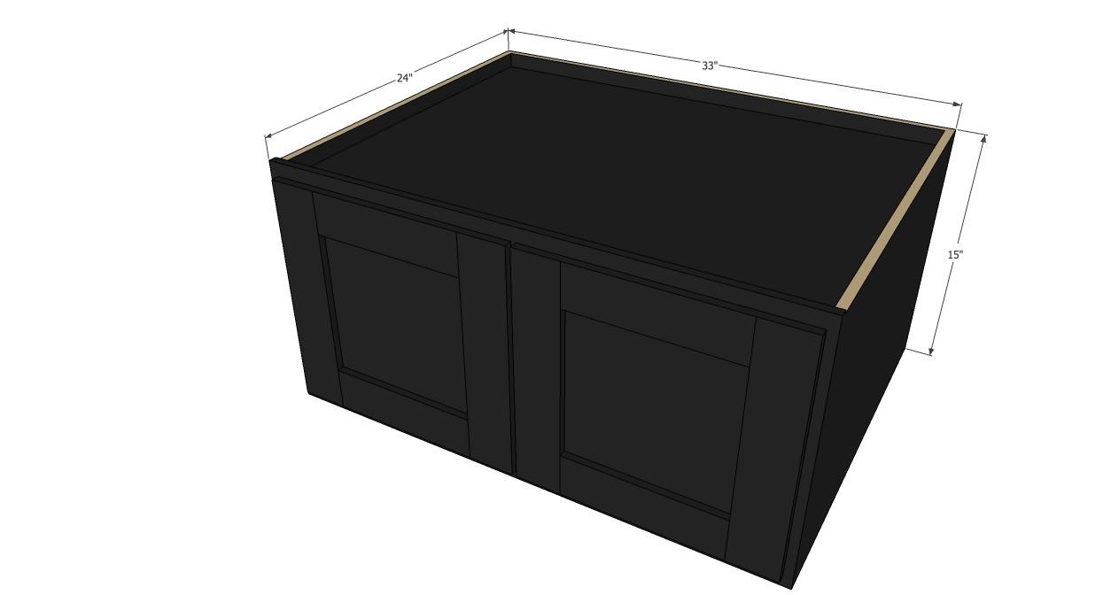 Island java shaker horizontal fridge wall cabinet 33 for 30 inch deep kitchen cabinets