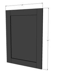 Island Java Shaker Base End Panel