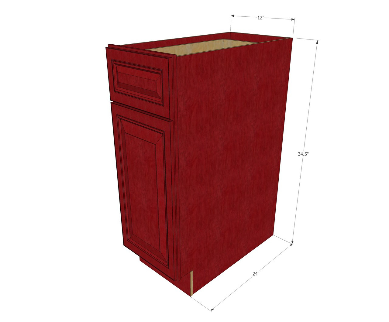 Grand Reserve Cherry Small Base Cabinet With 12 Inch Door Drawer Kitchen Cabinet Warehouse