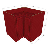 Grand Reserve Cherry Lazy Susan Corner Base Cabinet