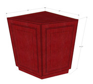 Grand Reserve Cherry Angle Corner Base Cabinet with False Door