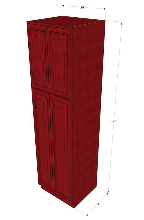 Grand Reserve Cherry Pantry Cabinet Unit 24 Inch Wide X 96 Inch High Kitchen Cabinet Warehouse