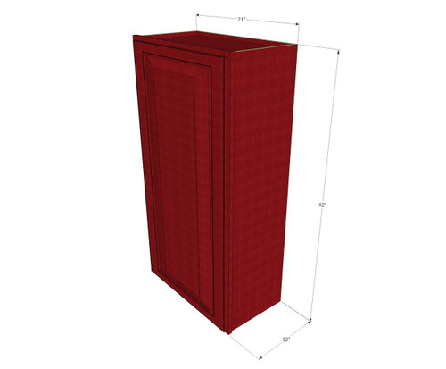 Small Single Door Grand Reserve Cherry Wall Cabinet 21 Inch Wide X 42 Inch High Kitchen