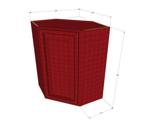 Grand Reserve Cherry Diagonal Corner Wall Cabinet 24
