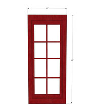 Grand Reserve Cherry Mullion Glass Door - 15 Inch Wide x 42 Inch High