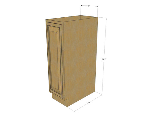 base cabinet with single 9 inch door  image 1 regal oak small base cabinet with single 9 inch door   kitchen      rh   kitchencabinetwarehouse com