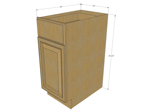 Regal oak small base cabinet with 15 inch door drawer for 15 inch kitchen cabinets