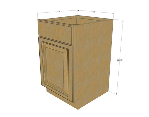 Regal oak small base cabinet with 21 inch door drawer - 24 inch kitchen cabinet with drawers ...