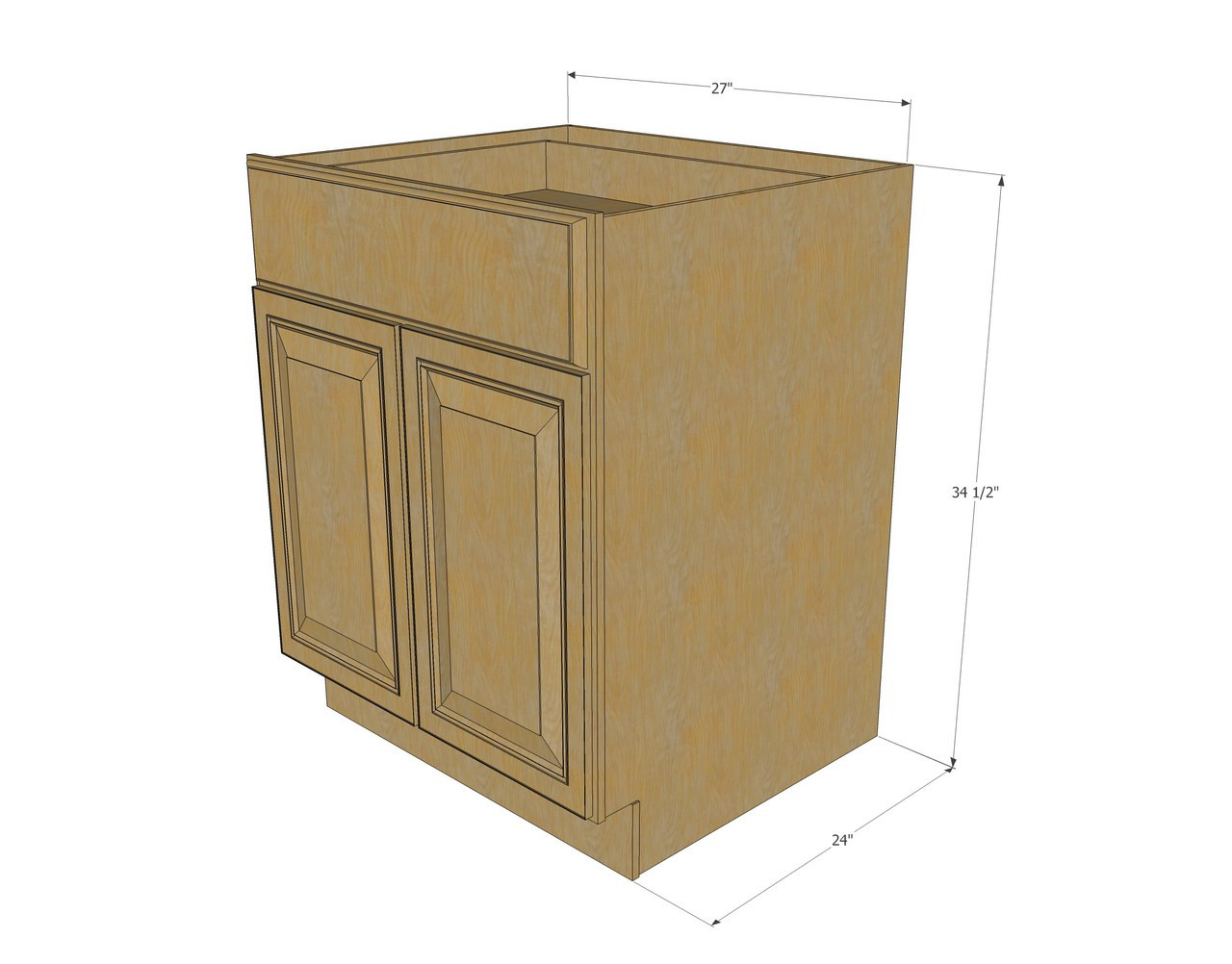 18 inch deep base cabinets 27 inch base cabinet 3d models for 18 inch deep base kitchen cabinets
