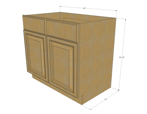 ... Kitchen Cabinets; Regal Oak Sink Base Unit with 2 False Drawers 42 Inch. Image 1  sc 1 st  RTA Kitchen Cabinets & Regal Oak Sink Base Unit with 2 False Drawers 42 Inch - Kitchen ...