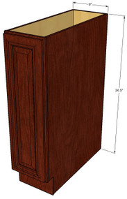 Brandywine Maple Small Base Cabinet with Single 9 Inch Door