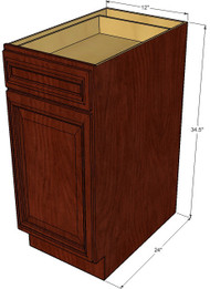 Brandywine Maple Small Base Cabinet with 12 Inch Door & Drawer