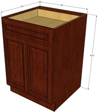 Brandywine Maple Medium Base Cabinet with Double Doors & Single Drawer - 24 Inch Width