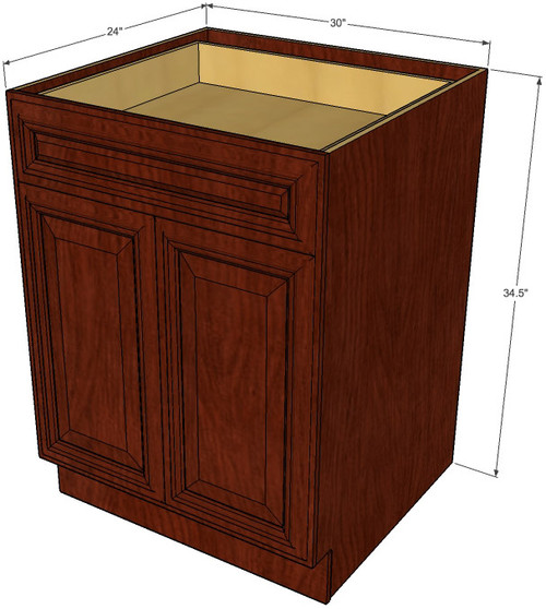 Brandywine maple medium base cabinet with double doors for 30 inch kitchen cabinets