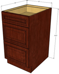 Brandywine Maple 3 Drawer Base Cabinet 15 Inch