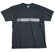 (TWO POINT )  Hi-Vis T-shirt - horizontal bar  front &  vertical  bar rear  Heather Gray