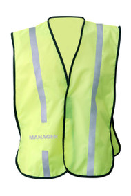 NON  ANSI Reflective  safety vest -Vestbadge - Manager
