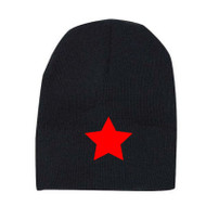 Reflective beanie - Star - Red