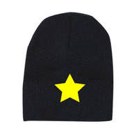 Reflective beanie - Star -  Yellow