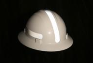 Americana Full Brim Mohawk Hard Hat / Solid Silver