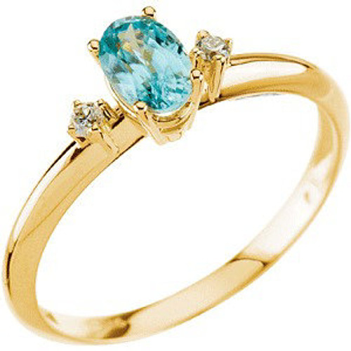 (NEW) BELLA COUTURE DIAMOND ZIRCON RING in 14K Yellow Gold