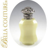 SOLD! - (ANTIQUE) Opaline Sterling Silver Perfume Bottle
