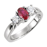 (NEW) Bella Couture ® Genuine Ruby & Diamond Platinum Ring Bella Couture®