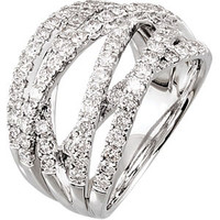 (NEW) Bella Couture® 1&1/2 CT Diamond 14K White Gold Ring