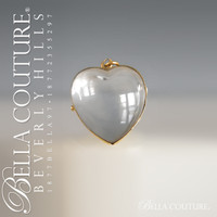 SOLD! - (ANTIQUE) Rare Gorgeous Antique Georgian Victorian 14K Gold Puffy Heart Rock Crystal Locket Pendant Charm Circa 1833 - 1840 (Pools Of Light)