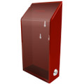 Red Acrylic Donation Box