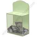 Locked Donation Box w/Back Wall Curved Display Area - 04 Glow In The Dark
