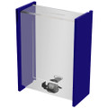 Clear Donation Box w/Sliding Door & Display