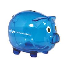 Classic Piggy Bank - Translucent Blue