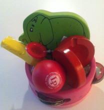 Mini tambourine gift set