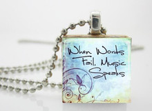 music quote necklace
