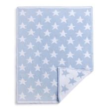 Blue Chenille Star Blanket