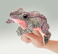 Frog Finger Puppet, red legged spotted