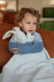 Bunny Toddler Blankey-Blue