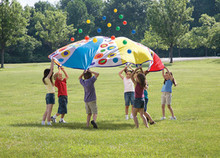 Colorful Giant Parachute with Balls