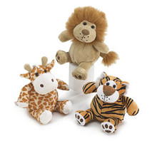 Plush Jungle Animal Set of three