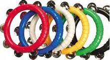 Colorful 8 inch tambourine