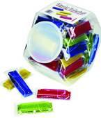 Clear grab jar of 48 translucent harmonicas