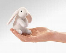 Mini Lop eared rabbit finger puppet