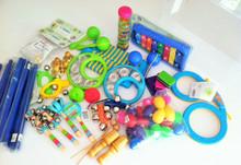 set of classroom percussion instruments