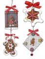 Set of 4 Cookie Cutter Gingerbread Ornaments by Kurt Adler