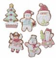 Set of 6 Asst'd Christmas Themed Gingerbread Clay Dough Ornaments by Kurt Adler