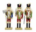 "Set of Three 6"" Wooden Nutcracker Soldier Christmas Ornaments by Kurt Adler"