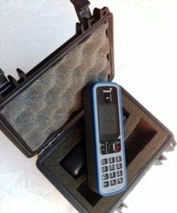 Inmarsat IsatPhone Pro Pelican case. Protects phone & holds phone, 12v & 240v chargers (Phone & accessories not included)